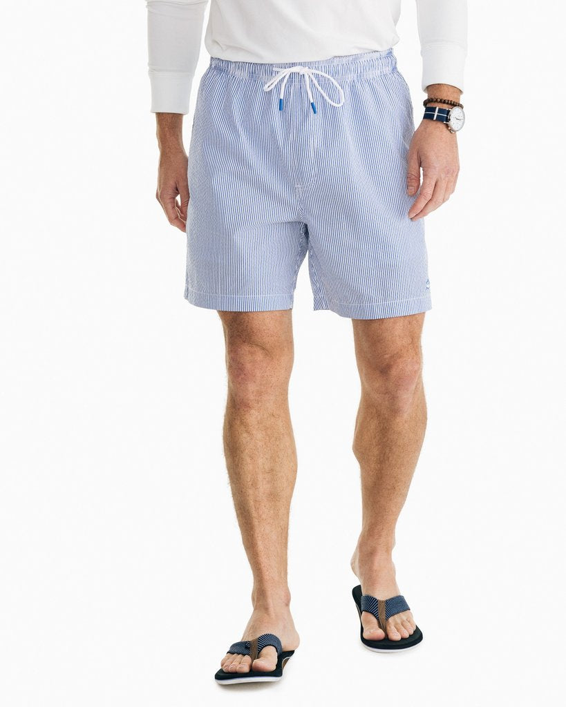 Southern Tide Seersucker Swim Trunk - Legacy Blue