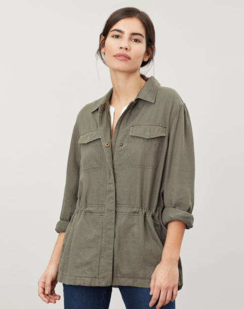 Joules Alexandra Outdoor Shacket - Soft Khaki