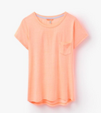Joules Shore Jersey Top - Fluoro Orange
