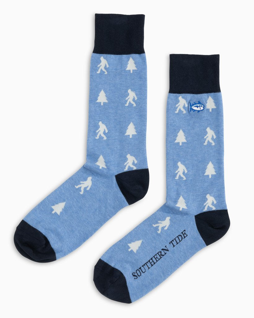 Southern Tide Men's Sighting Area Socks - Heather Ocean Channel