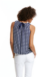 Vineyard Vines Silk Caning Print Top - Nautical Navy