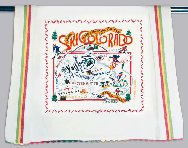 Catstudio Ski Colorado Dishtowel