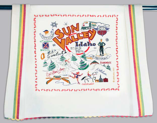 Catstudio Ski Sun Valley Dishtowel