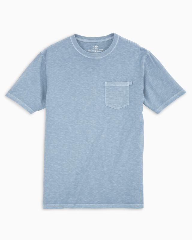 Southern Tide Beachwalker Short Sleeve Pocket T-Shirt - Ash Blue
