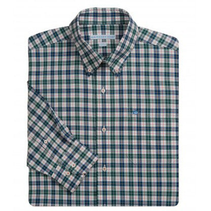 Southern Tide Caesars Head Plaid Long Sleeve Sport Shirt - High Point