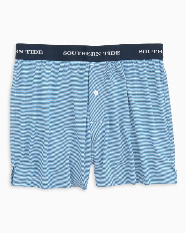 Southern Tide Fairway Dunes Striped Performance Boxer - Deep Water