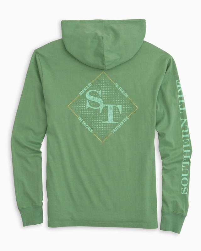 Southern Tide Gradient St Long Sleeve Hoodie T-Shirt - Bay Leaf Green