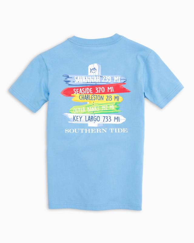 Southern Tide Kids Beach Signs T-Shirt - Ocean Channel