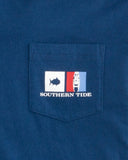 Southern Tide Kids Nautical Flags Long Sleeve Hoodie T-Shirt - Yacht Blue