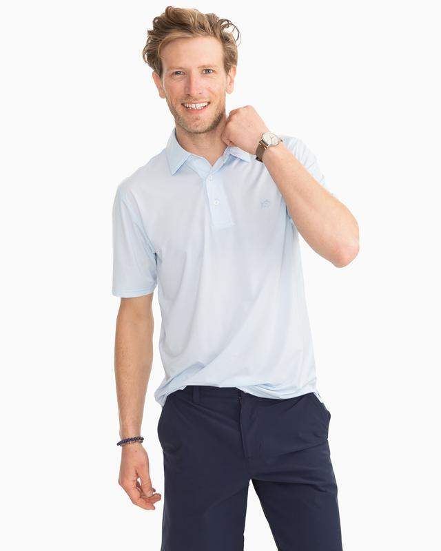 Southern Tide Haig Point Performance Polo - Sky Blue