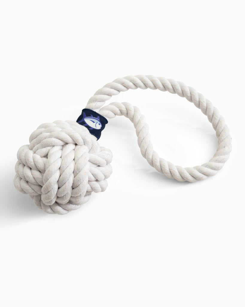Southern Tide Monkey Knot Dog Toy - Classic White