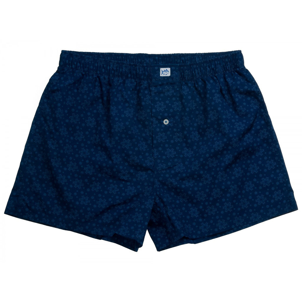 Southern Tide Snowflake Boxers - Night Sky