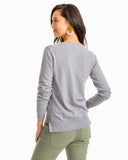 Southern Tide Women's Fireside Crew Sweater - Carob Grey Back