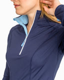 Southern Tide Women's Skipjack Athletic Quarter Zip - Nautical Navy