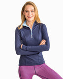 Southern Tide Women's Skipjack Athletic Quarter Zip - Nautical Navy Front