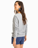 Southern Tide Heathered Waterfront Crew - Heather Grey