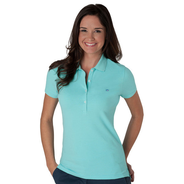Southern Tide Classic Skipjack Polo for Women - Aquamarine