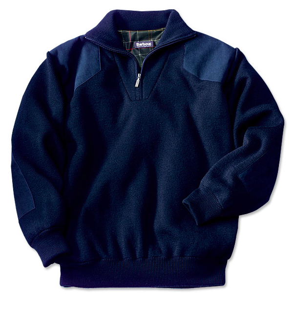 Barbour Storm 1/2 Zip - Navy