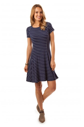 Southern Tide Stripe Campus Dress - Nautical Navy