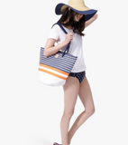 Joules Summer Beach Bag - Navy Stripe