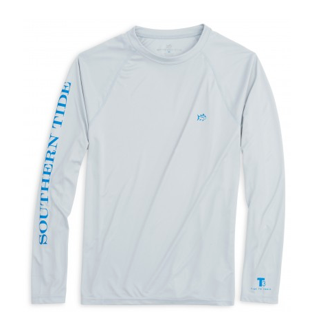 Southern Tide Tide to Trail Long Sleeve Performance T-Shirt - Slate