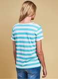 Barbour Trytone Top - Turquoise/Cloud