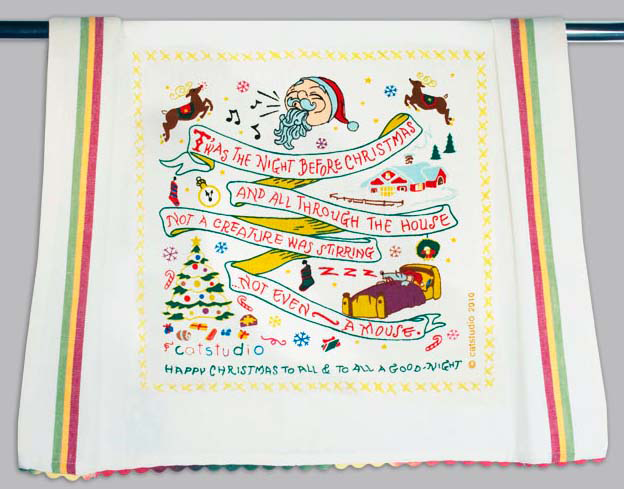 Catstudio 'Twas the Night Before Christmas Dishtowel