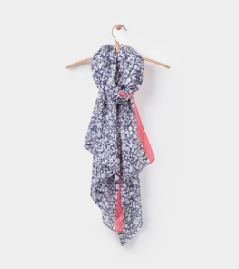 Joules Wensley Scarf - White Mara Ditsy
