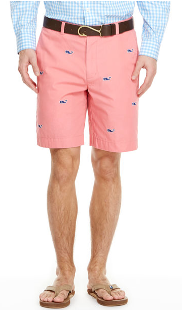 Vineyard Vines Whale Embroidered Breaker Shorts - Lobster Reef
