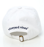 Vineyard Vines Whale Logo Baseball Hat - White Cap