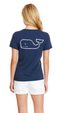 Vineyard Vines Whale Pocket Tee in Blue Blazer on model