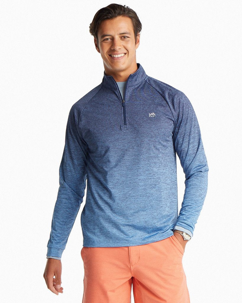 Southern Tide Windjammer Performance Quarter Zip Pullover - True Navy
