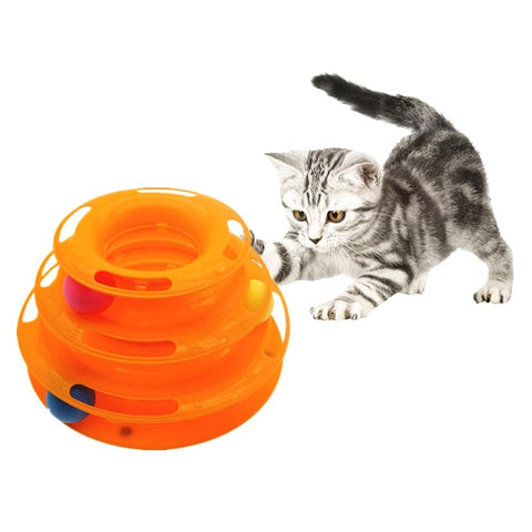 Triple Play Disc Cat Toy with Non-Skid Pads - 2 Colors Available - I Found it On Sale!