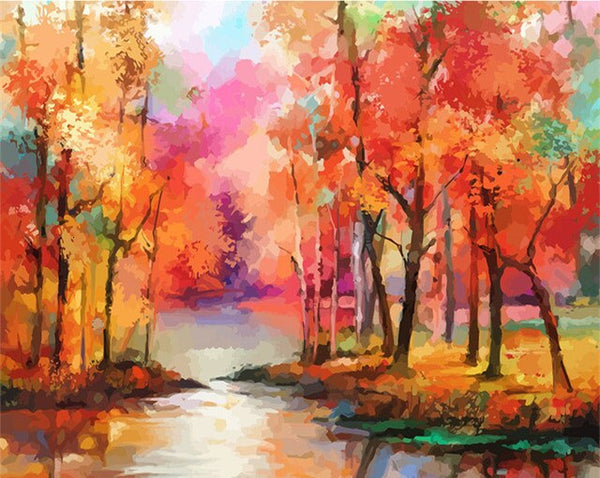 PAINT BY NUMBERS - TREE LANDSCAPES 9 - I Found it On Sale!