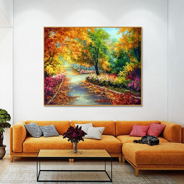 PAINT BY NUMBERS - TREE LANDSCAPES 8 - I Found it On Sale!