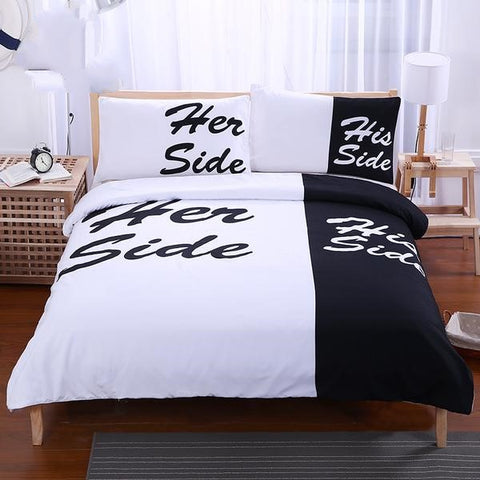 His & Her Duvet Cover Bedding Set - 3 Pieces Twin, Full, Queen, King - I Found it On Sale!