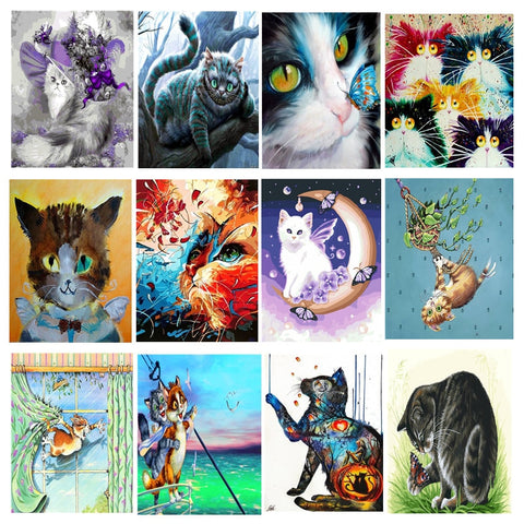 Crazy Cats - Paint By Numbers For Adults Kit, 40x50cm Canvas, Frameless - I Found it On Sale!