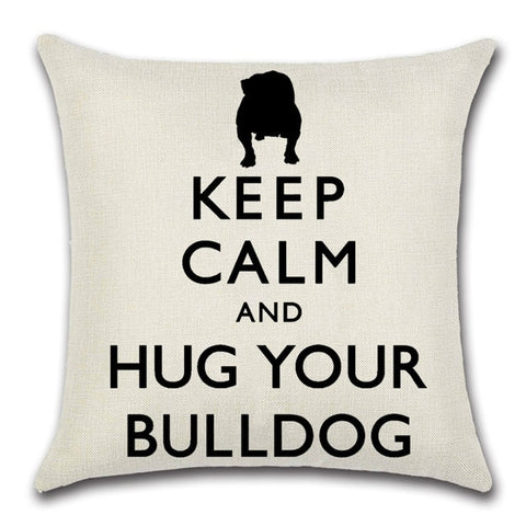 Bulldog Throw Pillow Cover 8 - I Found it On Sale!