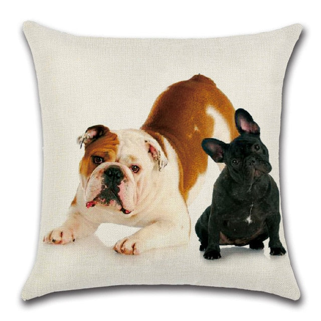 Bulldog Throw Pillow Cover 4 - I Found it On Sale!