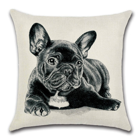 Bulldog Throw Pillow Cover 1 - I Found it On Sale!