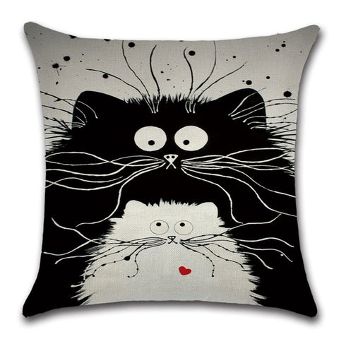 Cat Lovers Quirky Cats Throw Pillow Cover 3 - I Found it On Sale!