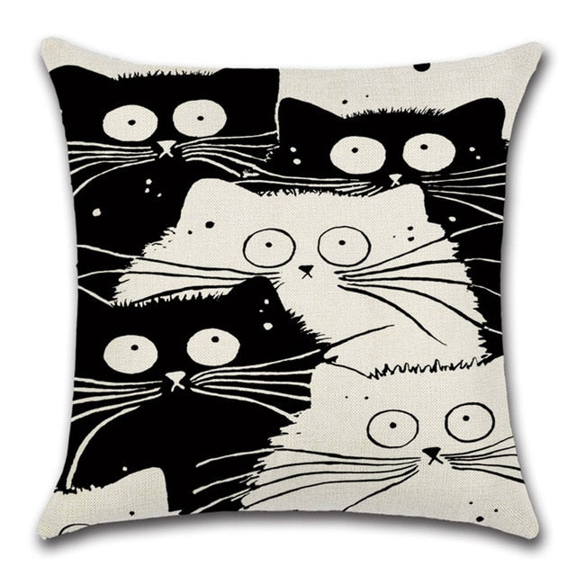 Cat Lovers Quirky Cats Throw Pillow Cover 1 - I Found it On Sale!