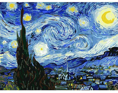 Vincent van Gogh Painting By Numbers - Starry Night