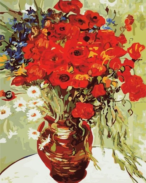 Vincent van Gogh Painting By Numbers - Daisies and Poppies - I Found it On Sale!