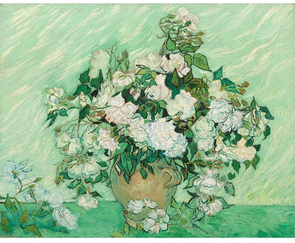 Vincent van Gogh Painting By Numbers - Vase with Pink Roses