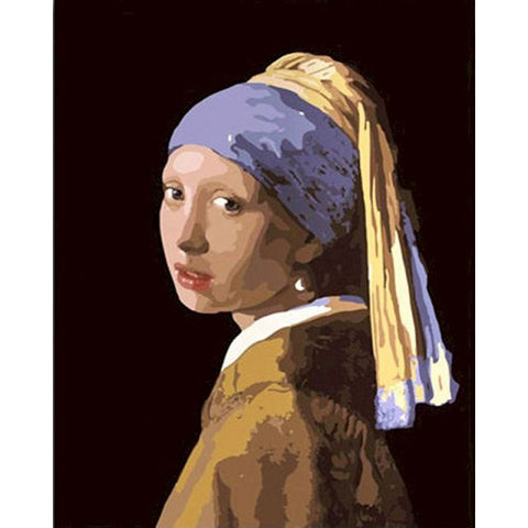 Johannes Vermeer Painting By Numbers - Girl with a Pearl Earring