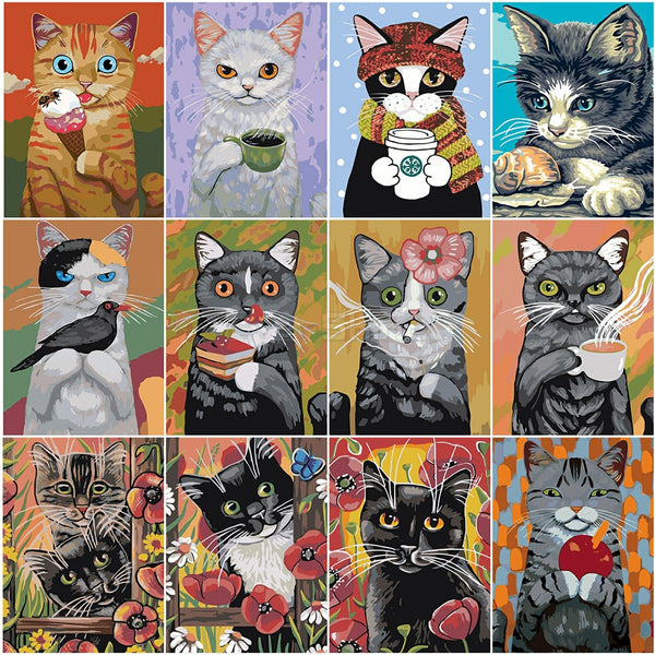 PAINT BY NUMBERS - CUTE CAT - ALL - I Found it On Sale!