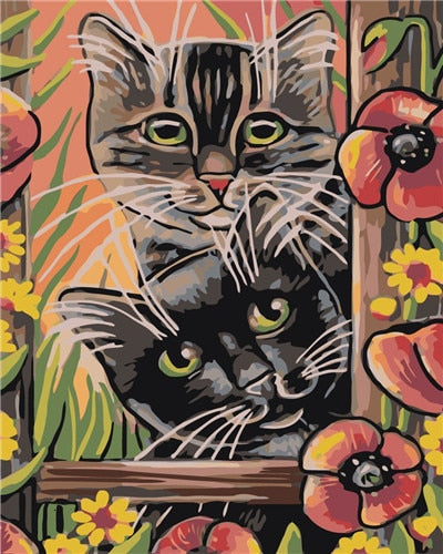PAINT BY NUMBERS - CUTE CAT 4 - I Found it On Sale!