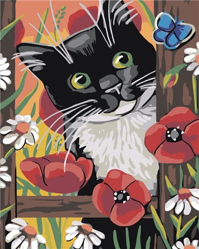 PAINT BY NUMBERS - CUTE CAT 11 - I Found it On Sale!