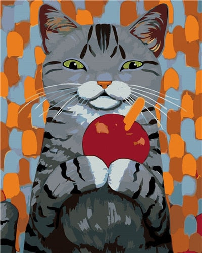 PAINT BY NUMBERS - CUTE CAT 8 - I Found it On Sale!